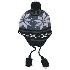 Peru Lima Classic Warm Heren Van De Winter Pomponmuts Gebreide Muts Fleece Blauw