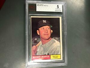 Mickey Mantle 1961 Topps #300 BVG 5 Excellent New York Yankees