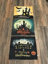 HOSL Woven Pillows Halloween Covers set of 3