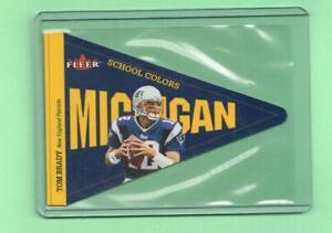 2002 Fleer Tom Brady School Colors Michigan Patriots 682/750