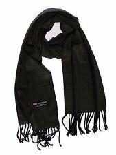 New 100% Cashmere Scarf Dark green/Black Twill Plaid Wool Scarf Soft Unisex  Z1