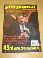 JAZZ JOURNAL INTERNATIONAL VOL 43 #10 1990 OCTOBER KEN PEPLOWSKI CHUCK WILSON
