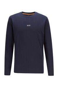 ✅ Hugo Boss Orange Sweatshirt Longsleeve Langarm dünner Pullover Navy Blau ✅