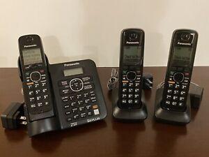Panasonic KX-TG6641 Digital Cordless Answering System Telephone w/ 3 Handsets