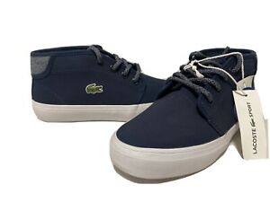 Lacoste  Ortholite Sneaker  Boots Navy Size 1 Youth /UK 13/EUR 32 Lace Up...K L3