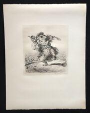 A. Paul Weber, Ein Student, aus dem Nachlass, Lithographie, 1978, Signatur