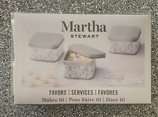 Martha Stewart Silver Metal Favor Boxes 10  With white & silver labels brand new