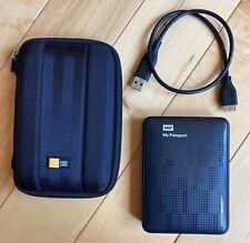 Western Digital My Passport 2TB External USB Drive WDBY8L0020BBK-01 with Case