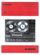 Philips  Bedienungsanleitung user manual   für N 4510 englisch deutsch Copy