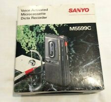 Vintage SANYO M5599C Micro Cassette Tape Recorder Voice Activated System VOX