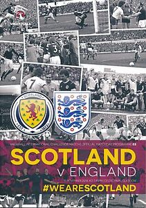 SCOTLAND v England (Friendly Match @ Celtic Park) 2014 - Official programme