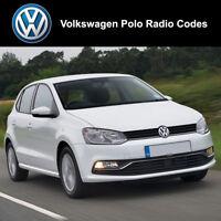 Volkswagen Polo Radio Code Unlock Stereo Codes PIN   RCD 310 300 200 210 215