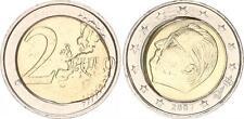 Belgien 2 Euro Kursmünze 2007, Fehlprägung, Pille versetzt- Spiegelei f.prfr
