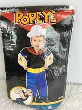 Popeye Boys Toddler Halloween Costume S 24 Months 2T Hat Shirt Pants Muscle Arms