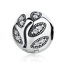 1pcs Silver buckle European Charm Beads Fit 925 Necklace Bracelet Chain SH655