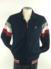 Marc Ecko Full Zip Track Jacket Small Cut & Sew NYC 1972 Red White Blue Mens