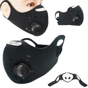 Face Cover Cycling Anti Pollution Activated Carbon Sport & Replaceable Filters K