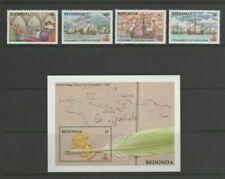 Redonda 1988 Columbus Discovery of America, Mint MNH Part Set + Mini Sheet