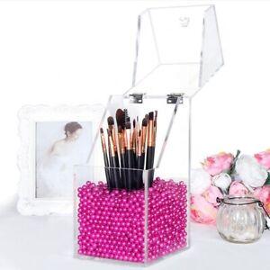 Acryl Make-up Pinselhalter mit Deckel Organizer Aufbewahrungsbox etui