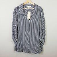 [ BEME ] Womens Striped Print Soft Shirt NEW + TAGS  | Size AU 22