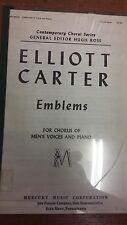 Carter: Emblems: For Chorus Of Men's Voices And Piano: Music Score (LQ1)