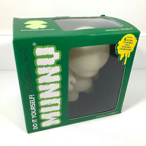 """Kidrobot Munny Do It Your Self Glow In The Dark 7"""" DIY Figure Compete Chef Hair"""