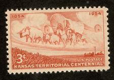 1061 Kansas Territory Us Single Mint/nh Free Shipping