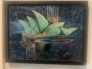 LONA Original  Acrylic, Emerald City Sydney Nights Series B Signed with COA