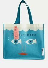 Donna Wilson Sea Bag Tesco Eco Shopping Bag Blue/Green Reusable Tote BNWT