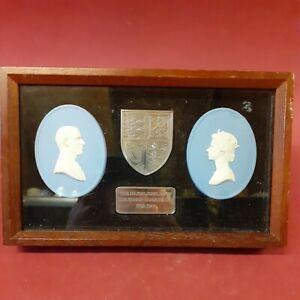 Wedgwood Jasperware Queen Elizabeth II Silver jubilee plaque with sterling silve