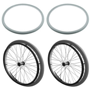 Pack of 2 Wheelchair Tires Replacements 24 inch x 1 3/8 inch Universal Fit Tires
