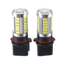 2pcs Xenon White P13W LED Bulbs PSX26W Fog Lamps For Audi Mazda Toyota Chevrolet