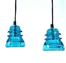 LED Insulator Pendant Light - Insulator Light - Vintage Glass Pendant Fixture