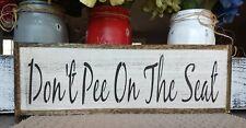 Bathroom wood sign DON'T PEE ON SEAT Bathroom Sign farmhouse sign bath sign