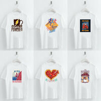 Summer Women tshirt Cartoon Letter Print Loose Casual T-Shirt Short Sleeve Tops