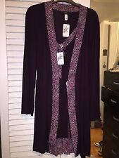 NWT Cosabella Women's Robe And Chemise Size Medium Plum