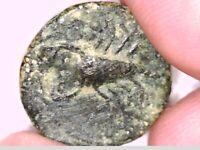 ROMAN EMPEROR AUGUSTUS ZODIAC SCORPION CAPRICORN STAR TESSERAE BRONZE RARE COIN