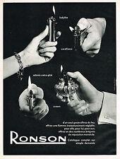 PUBLICITE ADVERTISING 104  1963  RONSON   briquets
