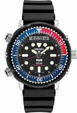 NEW Seiko PROSPEX PADI solar Analog Digital Diver Rubber Strap Watch SNJ027