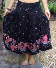 Willi Smith Skirt Ballerinas Dancers Ballet Vintage Sequin Size 4 Floral Cotton