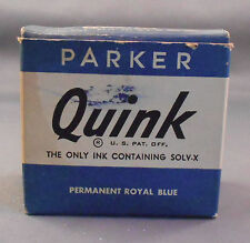 Parker Vintage Quink Ink Bottle Ink---Permanent Royal Blue