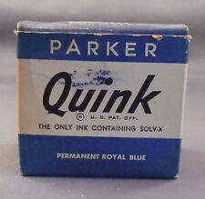 Parker Vintage Quink Ink Bottle Ink---Permanent Royal Blue
