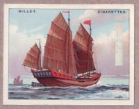 Rigging Sails Ancient Chinese Junk Sailboat Asia Craft 1920s Ad Trade Card