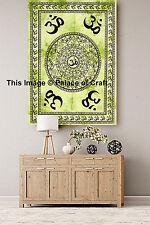 Indian Meditation Peace Wall Hanging Small Tapestry Handmade OM Mandala Yoga Mat