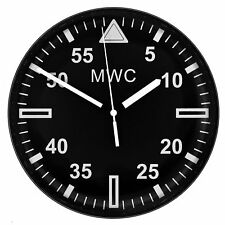"MWC Military Wall Clock Latest 2018 Model - 9""/22.5cm with Silent Sweep Movement"