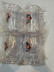 Lot of 4 New York Mets NEW 20 oz. pint  plastic/acrylic drinking Mugs