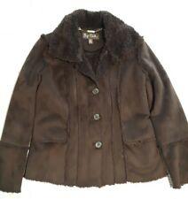 BIG CHILL Ladies/ Womens's Suede Faux Fur  Lined Jacket COAT, Sz M