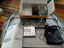 """Panasonic Sj-Mr100 MiniDisc Player""""Walkman"""" All Accessories w/ 5 Denon Discs"""