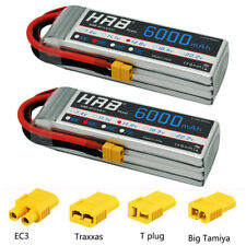 2pcs HRB 4S 14.8V 6000mAh Lipo Battery 50C for RC Drone Helicopter Airplane Car