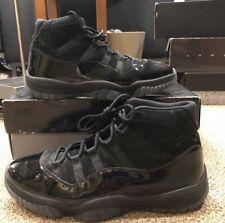 Nike Air Jordan Retro 11 Cap and Gown Triple Black Size 11 Men's XI 378037 005